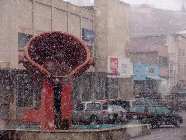 Nieve en Cananea